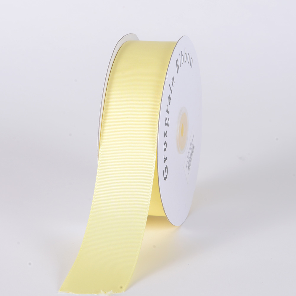Baby Maize Grosgrain Ribbon Solid