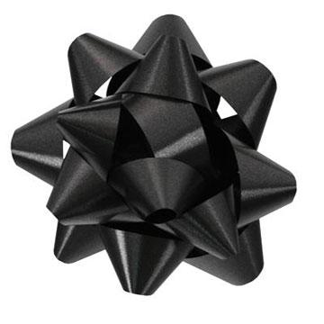 Black Star Bow for Gift Packaging