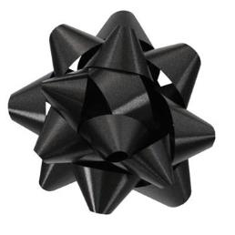Black Star Bow for Gift Packaging