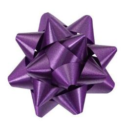 Purple Curly Ribbon Bow