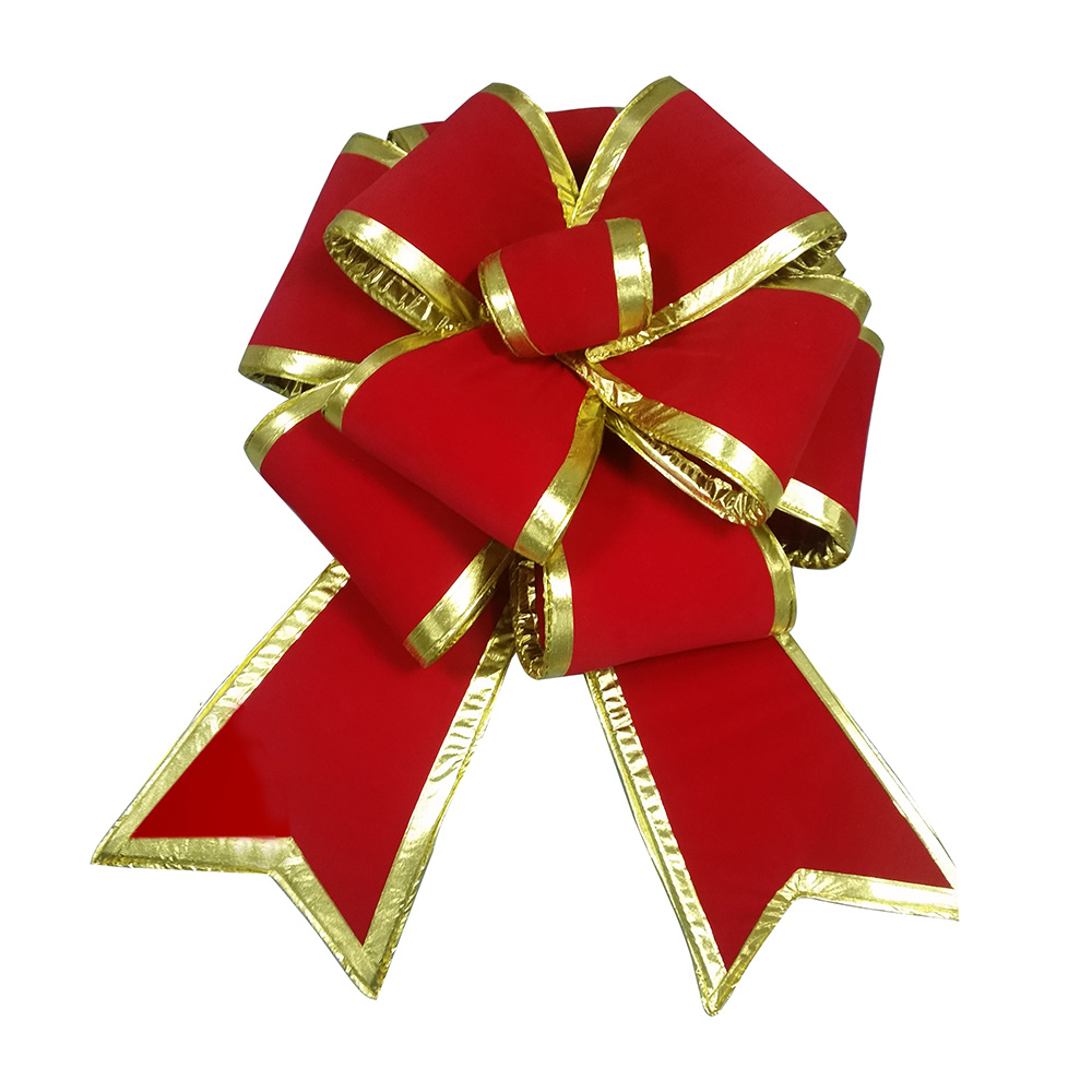 3D Red Velvet Bows for Christmas and Car show