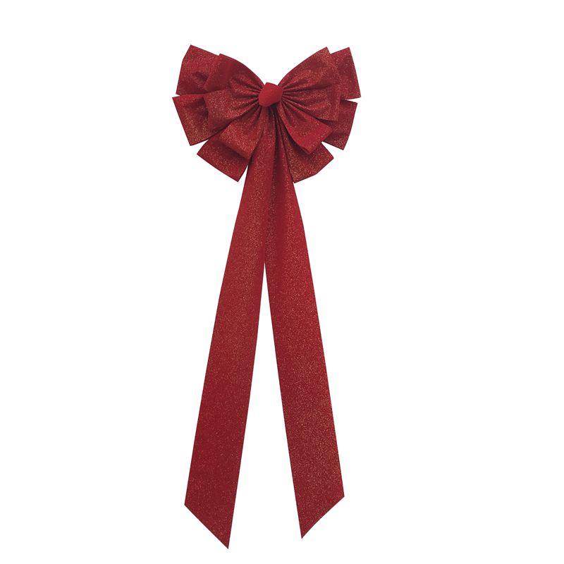Handmade velvet bows for christmas wreath