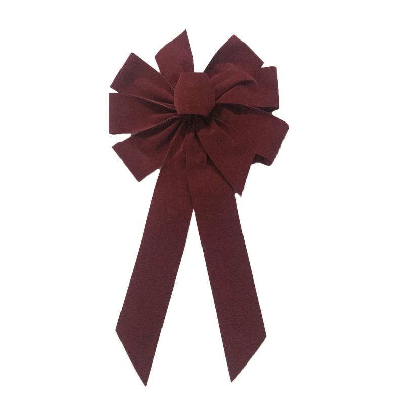 Small Size Burgundy velvet bows