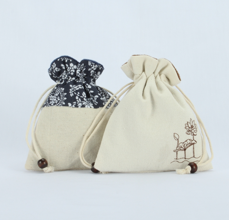 Cotton bags with velvet lining