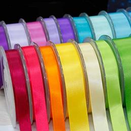 Single Faced Colorful Polyester Ribbon
