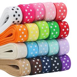 Custom Printed Grosgrain Ribbons with Polka Dots