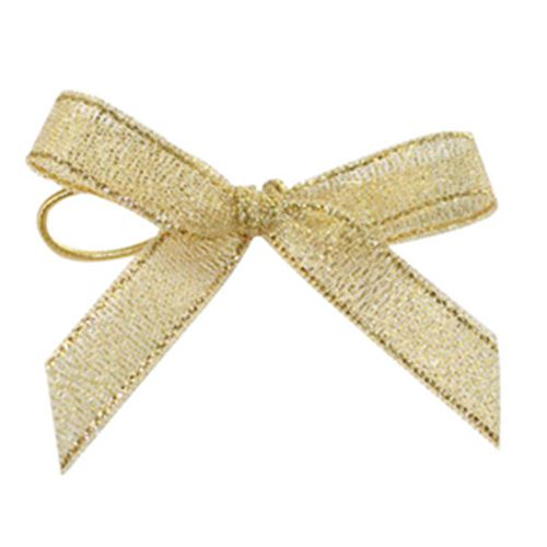 Gold metallic handmade ribbon bows