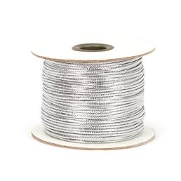 Wired Braised Metallic Silver String on Paper Spool 1.4mm