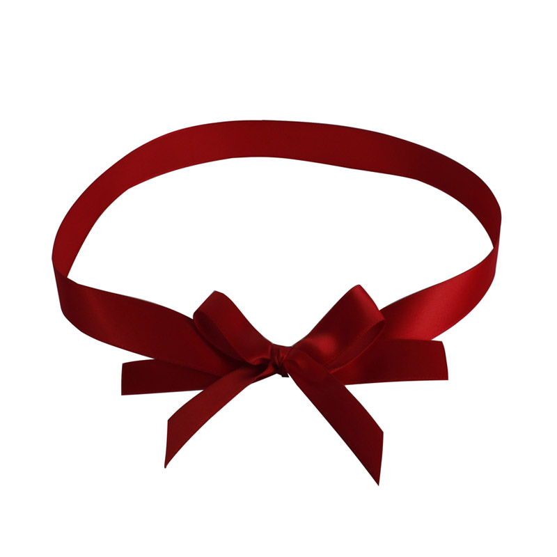 Satin bow with loop for gift
