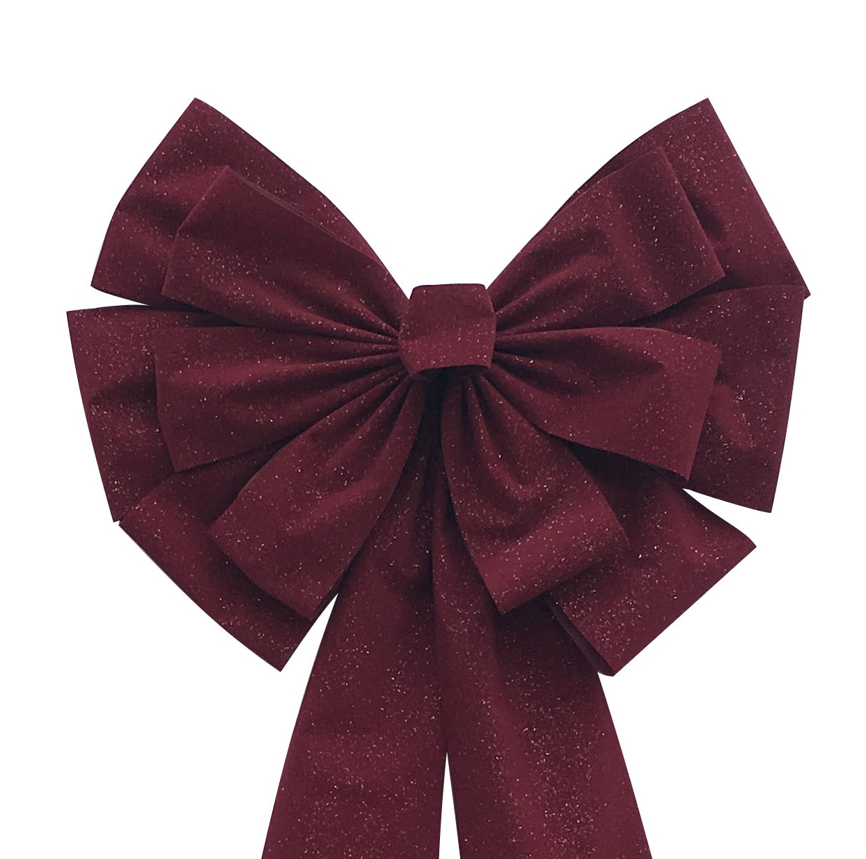 Burgundy Christmas bows for wreaths