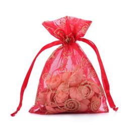 Organza Favor Drawstring Gift Bag for Christmas Holiday