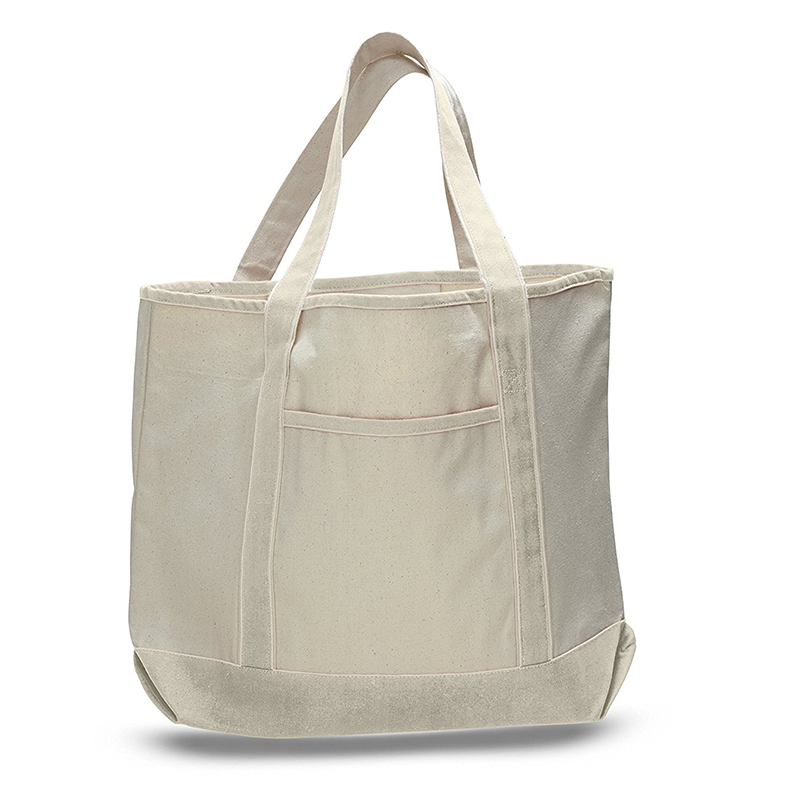 Deluxe Heavy Cotton Canvas Large Tote Bag (Natural)