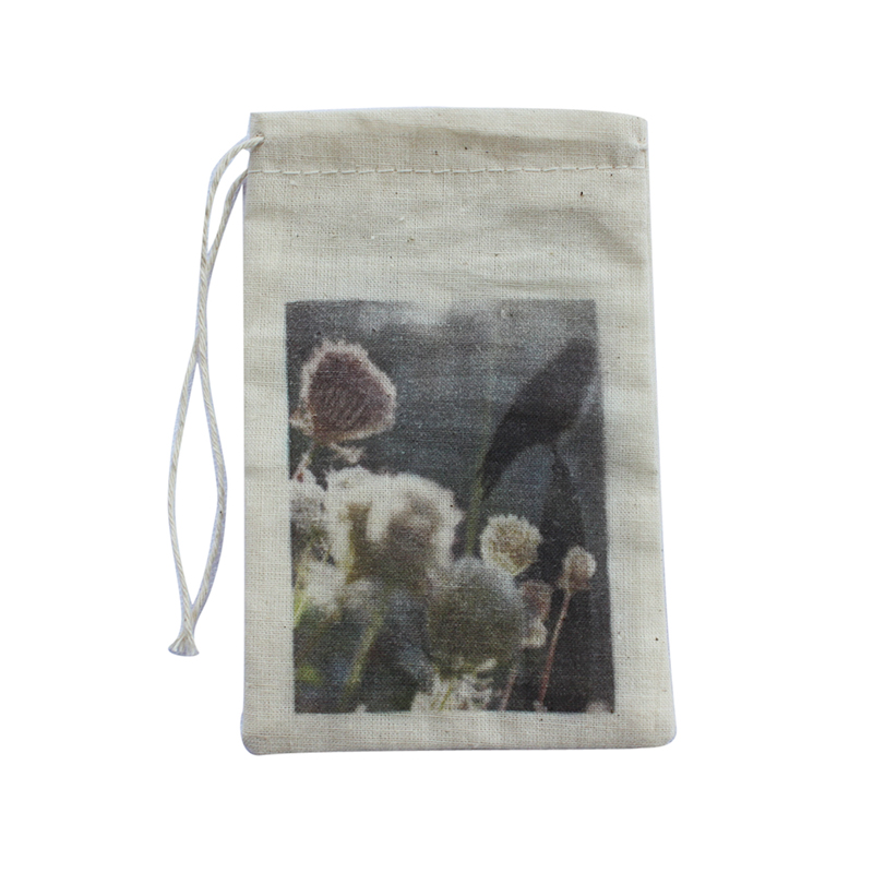 Small Cotton Pouch for Dry Flowers