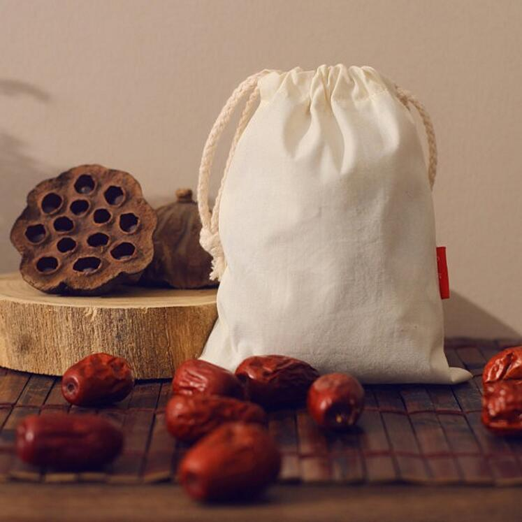 Organic Cotton Pouch Drawstring Cotton Pouch