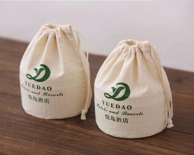 Wholesale Unbleached Cotton Fabric Drawstring Bag