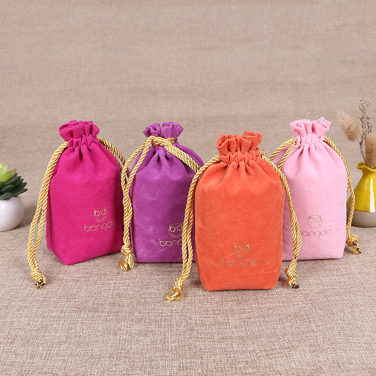 High Quality Cosmetic Velvet Gift Pouch