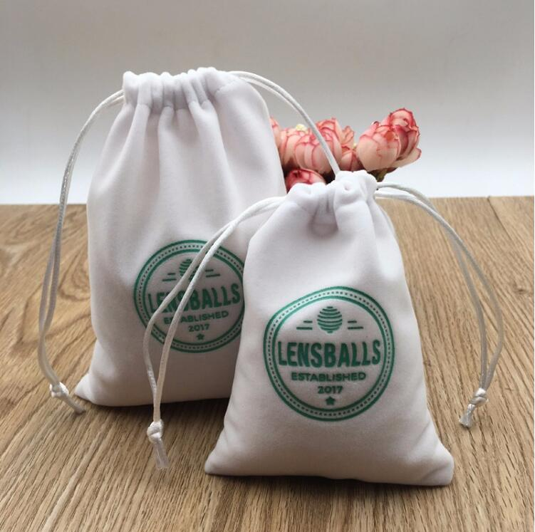 Factory Wholesale White Velvet Bags
