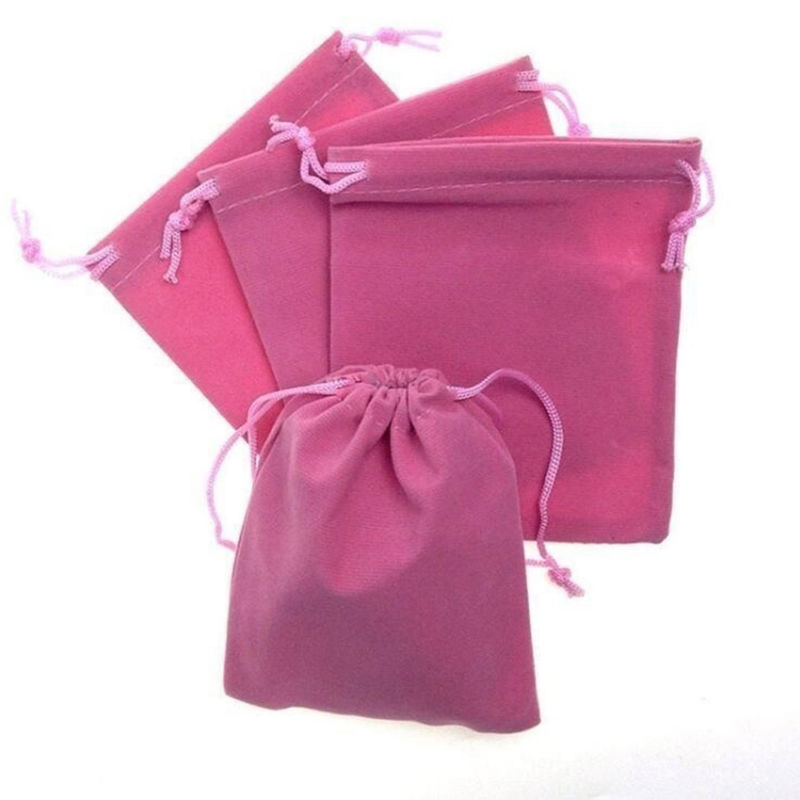 Velvet Drawstring Bag Cheap Price Pink