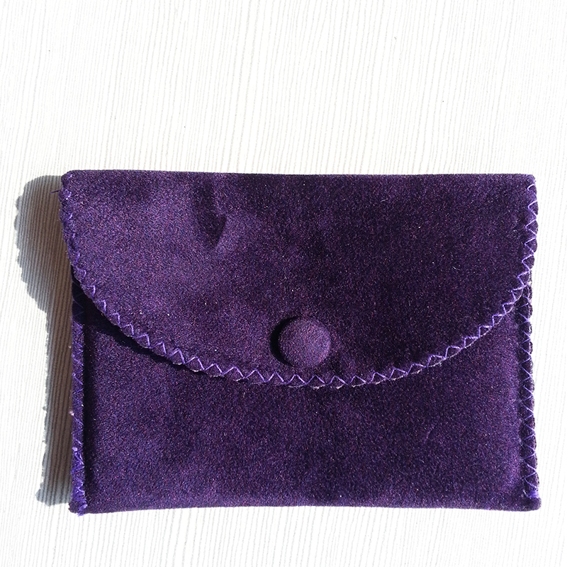 Purple Velvet Pouch For Jewelry
