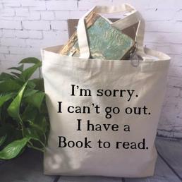 Reusable Cotton Canvas Book Carrier Bag