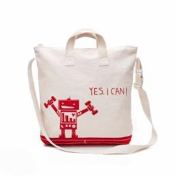 Printed Recycled Cotton Canvas Tote Bag