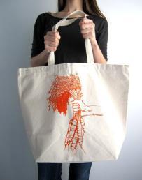 Big Durable Cotton Shoulder Shopping Bag