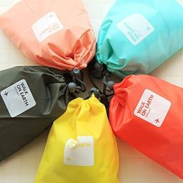Travel Packaging Drawstring Nylon Bag