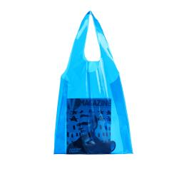 Blue Jelly Tranparent Waterproof Shoulder Bag