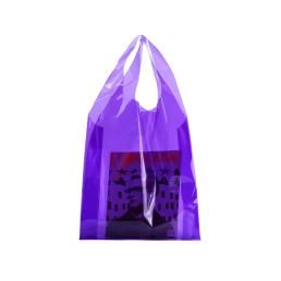 Purple Candy Clear Lady Tote Bag