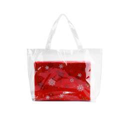 дешевые четкие пвх мешок подарков белый