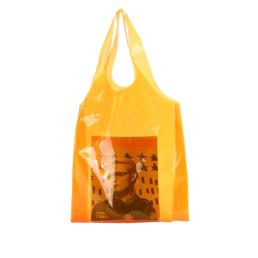 Neon Orange Clear Jelly PVC Shopper