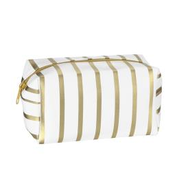 Striped Makeup Brushes Cosmetic Bag
