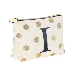 Personalized Cotton Canvas Cosmetic Pouches