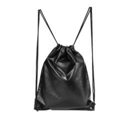 Unisex Black Gym Sackpack Backpack Gymsack