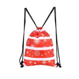 Snowflakes Christmas Gift Drawstring Backpack
