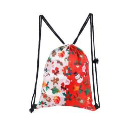 Holiday Themed Drawstring Backpack  Factory Wholesale