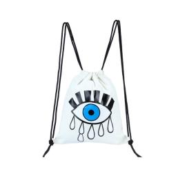 Canvas Drawstring Backpack Cry Eye Tears