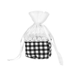 Organza Gift Bag with Gingham Patch