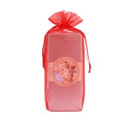 Red Organza Wine Wrapping Bag