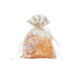 Heart Printed Organza Favor Gift Pouch