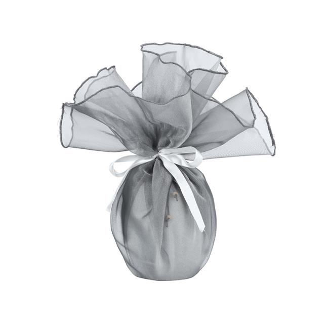 Silver Organza Favor Gift Wrap Bag