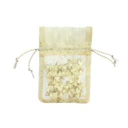 Gold Organza Gift Pouch Wholesale