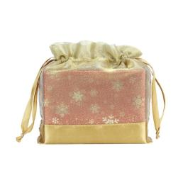 Gold Organza Pouch for Boxes Packing