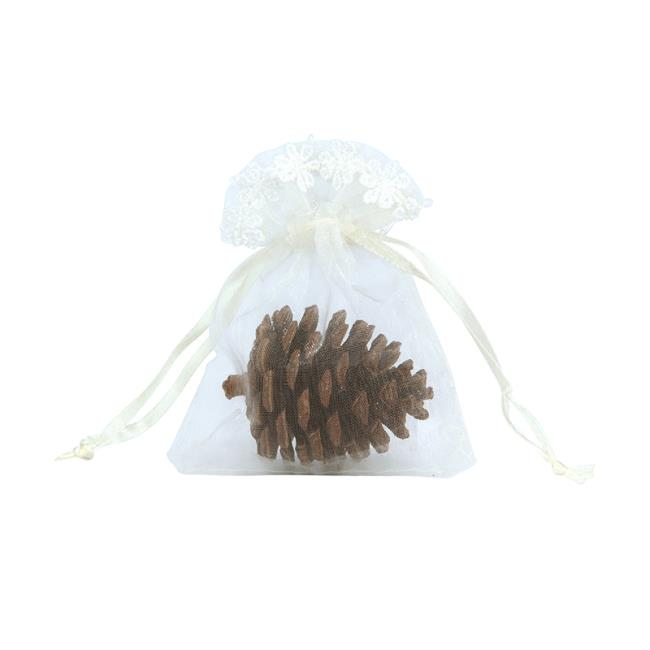 Favor Gift Pouch With Lace Trim