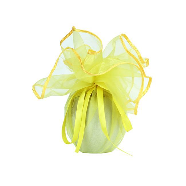 Yellow Organza Favor Gift Wrap Bag
