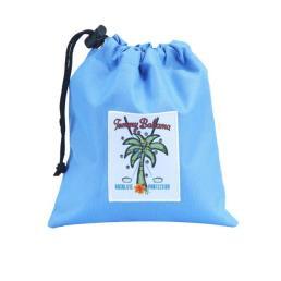 Blue Nylon Drawstring Bag Pouch
