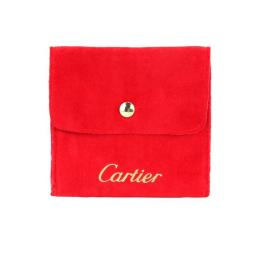 Red Suede Leather Jewelry Pouch