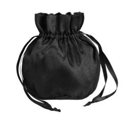 Black Silk Drawstring Favor Gift Bag