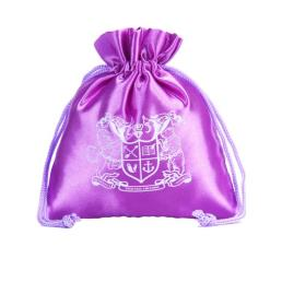 Purple Custom Silk Bag with Logo