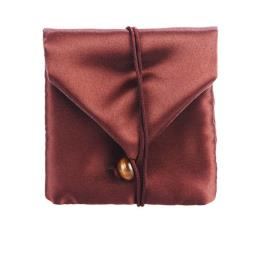 Brown Silk Jewelry Purse  Gift Pouch